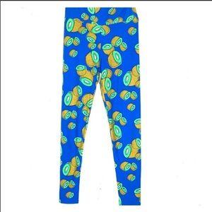 Lularoe onesize kiwi print leggings